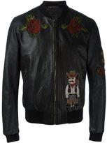 Dolce & Gabbana western patch bomber jacket