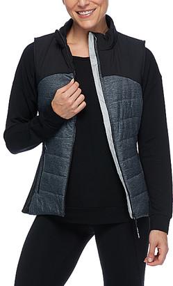Body Glove Women's Outerwear Vests BLACK - Black Gita Solid Heather Vest - Women