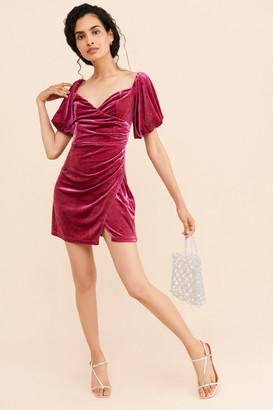 Glamorous Velvet Orchid Dress