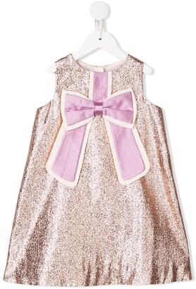 Hucklebones London Gilded Bow Shift Dress