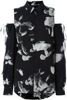 A.F.Vandevorst cold shoulder blouse - women - Silk/Spandex/Elastane - 38