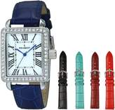 Peugeot Women's 677S Silver-Tone Watch with Five Interchangeable Leather Bands