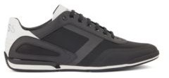 HUGO BOSS Low Profile Sneakers With Mesh And Reflective Detailing - Black