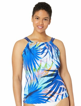 Maxine Of Hollywood Women's Plus-Size High Neck Tankini Swimsuit Top