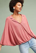Anthropologie Collared V-Neck Top