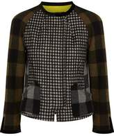 Etro Paneled Checked Wool-Blend Felt Jacket