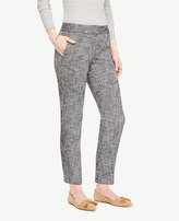 Ann Taylor The Tall Ankle Pant in Textured Stretch - Devin Fit