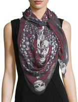 Zadig & Voltaire Kerry Garden Scarf w/ Frayed Edges