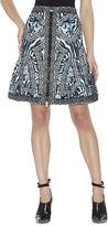 Herve Leger Veda Ocelot and Antique-Lace Jacquard Skirt