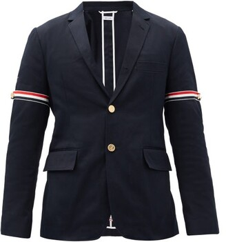 Thom Browne Single-breasted Cotton-twill Blazer - Navy