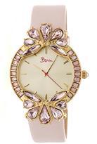 Boum Precieux BOUBM4205 Women's Gold and Light Pink Leather Analog Watch