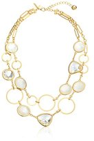 """Kate Spade Sun Kissed Sparkle"""" Double Strand Necklace, 19"""" + 3"""" Extender"""