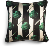 Artichokes Silk & Velvet Cushion