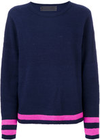 The Elder Statesman contrast stripe cashmere jumper
