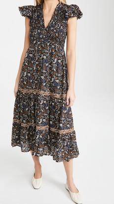 Sea Walker Flutter Sleeve Maxi Dress