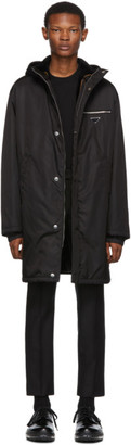 Prada Black Fur-Lined Coat