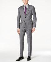 HUGO BOSS HUGO Men's Slim-Fit Medium Gray Tonal Striped Suit