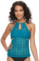 So Mix and Match Crochet High-Neck Tankini Top