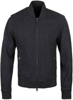 Armani Jeans Charcoal Marl Bomber Jacket
