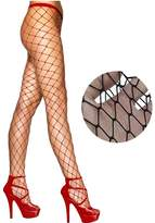 Qiyuxow Whale Fishnet Tights Pantyhose Stockings Worn under Ripped Denim