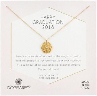 Dogeared Womens Gold Grad 2018 Chain Necklace 16
