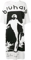 R 13 oversized Bauhaus print top - women - Cotton - S