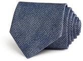 John Varvatos Mirco Houndstooth Woven Textured Solid Classic Tie