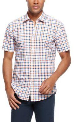 HUGO BOSS 'Marco' - Slim Fit, Cotton Check Short Sleeve Button Down Shirt