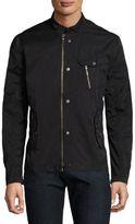 John Varvatos Bomber Zip and Snap Front Jacket