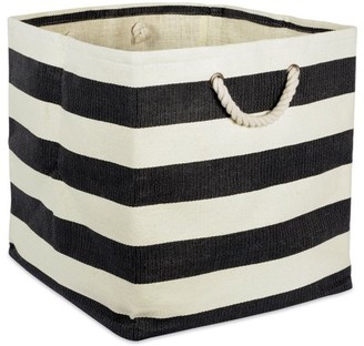 "DII Stripe Decorative Cube, 16"" x 16"" x 16"", Woven Paper, Multiple Colors"