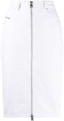 Diesel Pencil Skirt In Washed Denim