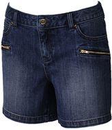 JLO by Jennifer Lopez Women's Zipper-Pocket Jean Shorts