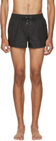 Dolce & Gabbana Black Crown Swim Shorts