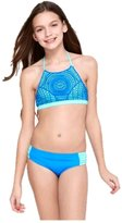 Justice Girls Bathing Suit Bikini Macrame Halter Swimsuit 10