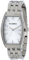 Haurex Italy Women's XS386DSS Ninfea Tonneau Stainless Steel Crystals Silver Dial Watch