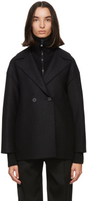 Harris Wharf London Black Pressed Wool Jacket