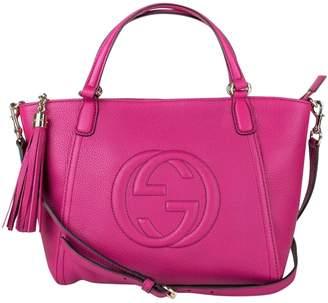 Gucci Soho Purple Leather Handbags
