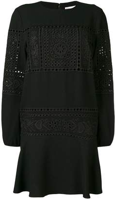 RED Valentino lace embroidered dress