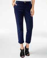 Tommy Hilfiger Hampton Polka-Dot Cropped Pants, Only at Macy's
