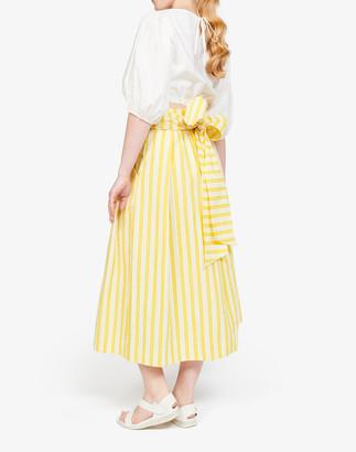 Madewell WHIT Striped Kimani Tie-Waist Midi Skirt