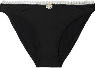 Solid & Striped The Daphne Floral-appliqued Low-rise Bikini Briefs