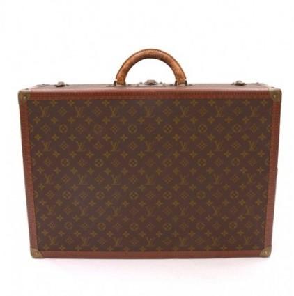 Louis Vuitton very good (VG Brown Monogram Canvas Bisten 60 Travel Trunk