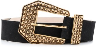 B-Low the Belt Stud-Embellished Leather Belt