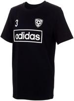 adidas Boys' Tee Shirts BLACK - Black Soccer Jersey Tee - Boys