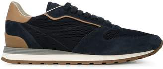 Brunello Cucinelli panel lace-up sneakers