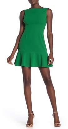 Love...Ady Scoop Back Flounce Hem Dress