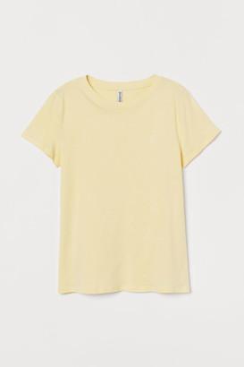 H&M Jersey T-shirt - Yellow