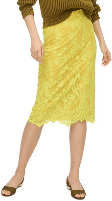 J.Crew Chantilly Lace Pencil Skirt