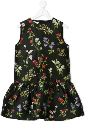 Oscar De La Renta Kids Flower Drop Waist Dress