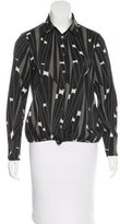 Aquascutum London Abstract Print Button-Up Top
